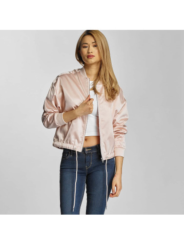 Urban Classics Damen Übergangsjacke Ladies Satin Kimono in rosa