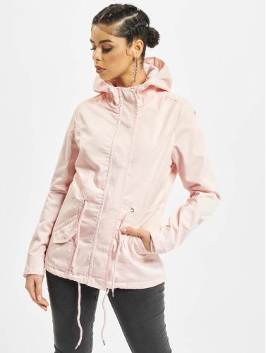 Urban Classics Damen Übergangsjacke Basic in rosa
