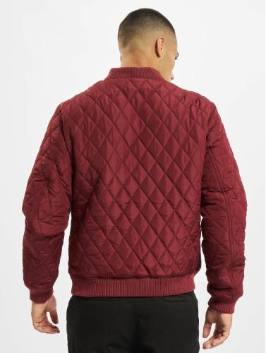 Urban Classics Herren Übergangsjacke Diamond Quilt Nylon in rot