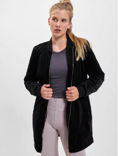 Classiques Urbains Veste De Transition Pour Femmes Dames Long Velours En Noir