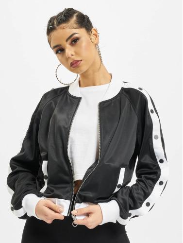 Urban Classics Damen Übergangsjacke Button Up in schwarz