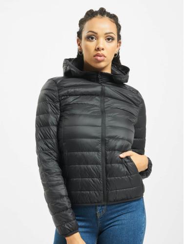 Urban Classics Damen Übergangsjacke Basic Hooded Down in schwarz