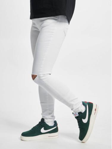 Urban Classics Mujeres Vaqueros rectos Ladies Cut Knee in blanco