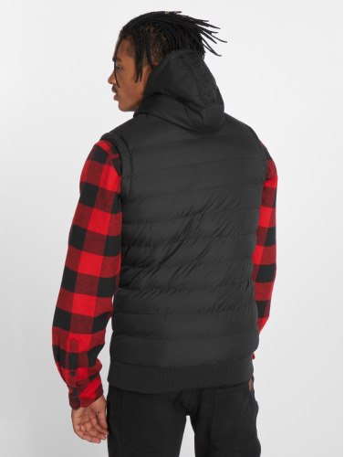 Billige Mode Urban Classics Herren Weste Small Bubble Hooded in schwarz Erstaunlicher Preis Online Rabatt Angebote dEWScX99V