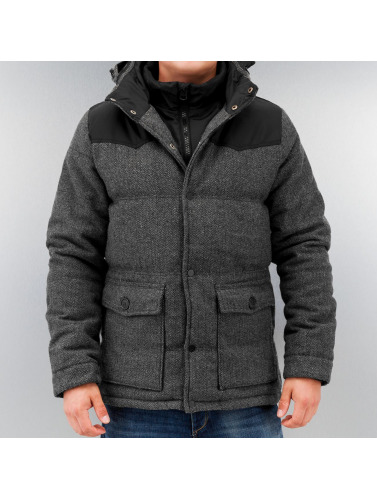 Urban Classics Herren Winterjacke Material Mixed in grau