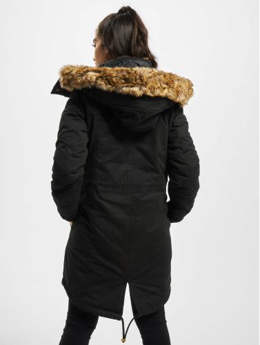 Urban Classics Damen Winterjacke omega in schwarz
