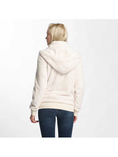 Urban Classics Damen Zip Hoodie Teddy in beige