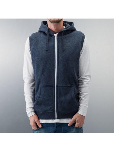 Urban Classics Herren Zip Hoodie Melange Hooded in blau
