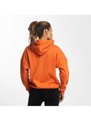 Urban Classics Damen Zip Hoodie Kimono in orange