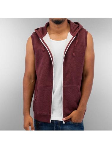 Urban Classics Herren Zip Hoodie Melange Hooded in rot