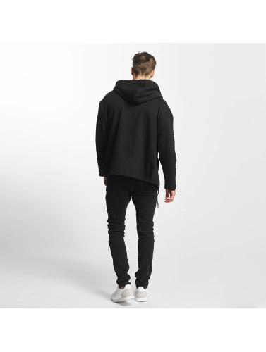 Urban Classics Herren Zip Hoodie Long in schwarz