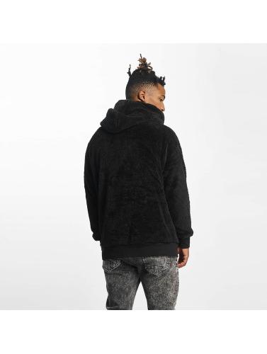 Urban Classics Herren Zip Hoodie Teddy in schwarz