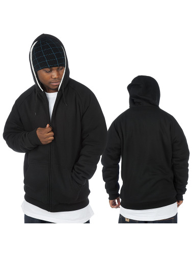 Urban Classics Herren Zip Hoodie Winter in schwarz