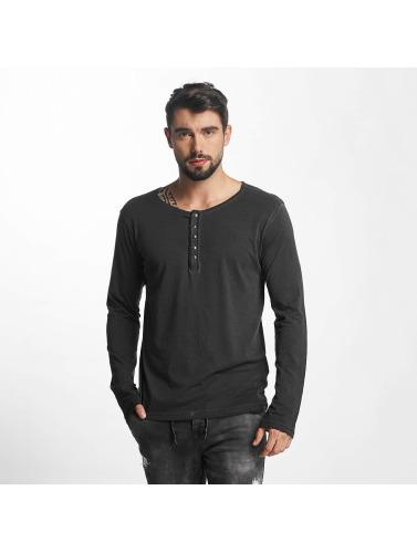rabatt Billigste komfortabel Overflaten Urbane Menn Langermet Knappen Skjorte I Grått god selger vODma7Fy