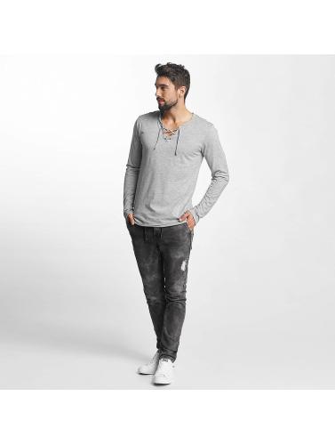 Urban Surface Hombres Camiseta de manga larga String in gris