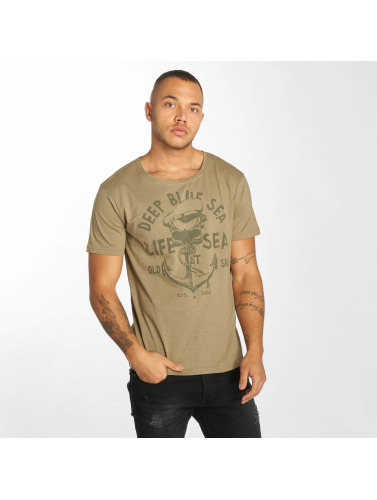 Urban Surface Hombres Camiseta Life Sea in oliva