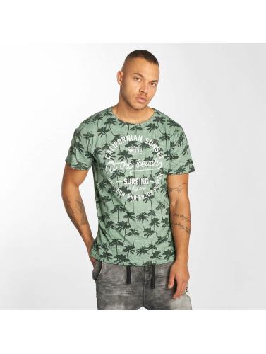 Urban Surface Hombres Camiseta Sunset in verde