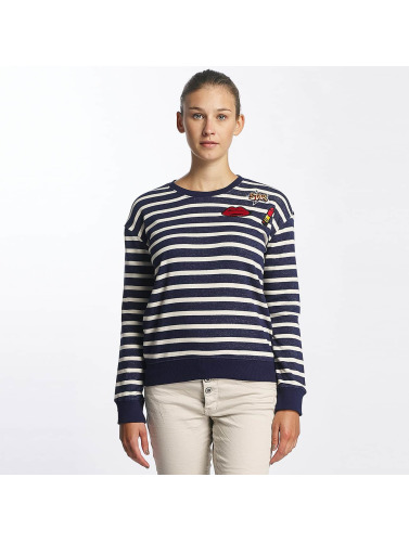 Urban Surface Damen Pullover Striped Patch in blau