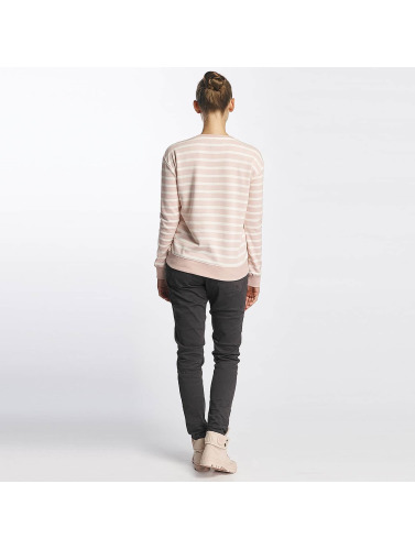 Urban Surface Damen Pullover Striped Patch in rosa