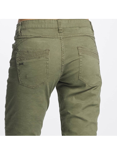 Urban Surface Damen Slim Fit Jeans Vittoria in olive