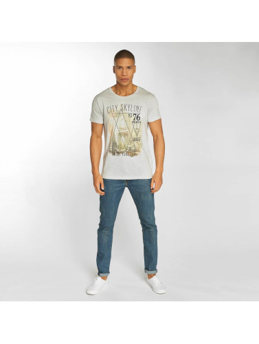 Urban Surface Herren T-Shirt Skyline in grau