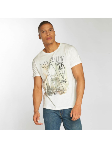 Urban Surface Herren T-Shirt Skyline in weiß