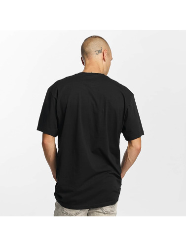 Vans Hombres Camiseta Left Chest Logo in negro