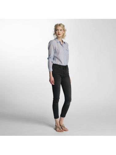 Vero Moda Damen Bluse vmBasa Midi Woven in blau