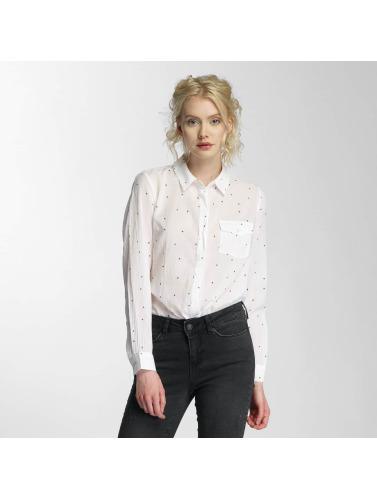 Vero Moda Damen Bluse vmBasa Midi Woven in weiß