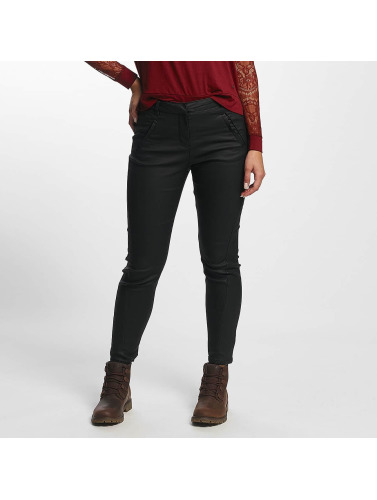 Vero Moda Damen Chino Antifit Coated in schwarz