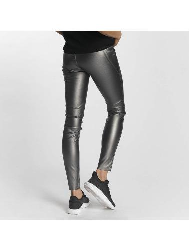 Vero Moda Mujeres Legging/Tregging vmSevena Slim Metal in plata