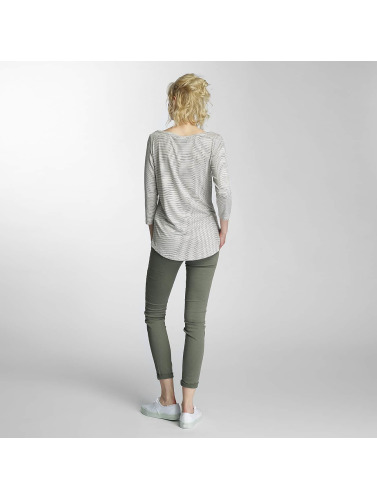Vero Moda Femme Manches Longues Vmnanny 3/4 Boatneck En Blanc