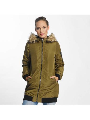 Vero Moda Damen Mantel vmDicte Fake Fur 3/4 J in olive