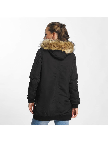 Vero Moda Damen Mantel vmDicte Fake Fur 3/4 in schwarz