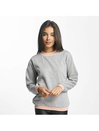 Vero Moda Damen Pullover vmIsabella Rib Stripe in grau