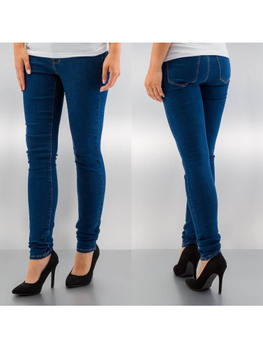 Vero Moda Damen Skinny Jeans vmSeven in blau