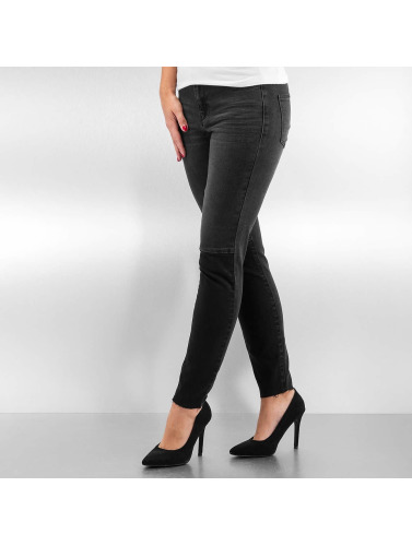 Vero Moda Damen Skinny Jeans vmSeven Slim Patch Ankle in schwarz