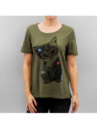 Vero Moda Damen T-Shirt Vmbiba in grün