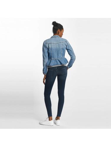 Vero Moda Damen Übergangsjacke vmMerny Ruffle Denm in blau
