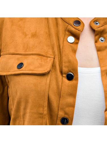 Vero Moda Damen Übergangsjacke vmFia Fake Suede in braun