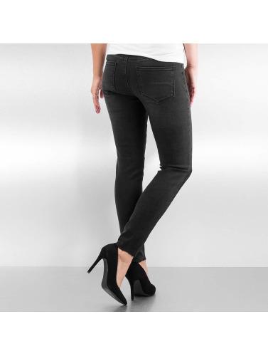 Vero Moda Mujeres Vaqueros pitillos vmSeven Slim Patch Ankle in negro