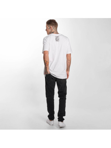 Volcom Hombres Camiseta Edge Basic in blanco