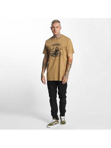 Volcom Hombres Camiseta Trippin in caqui
