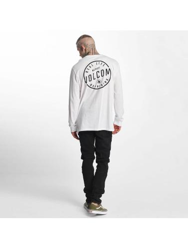 Volcom Hombres Camiseta de manga larga On Lock Basic in blanco