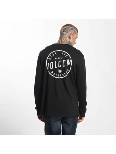Volcom Hombres Camiseta de manga larga On Lock Basic in negro