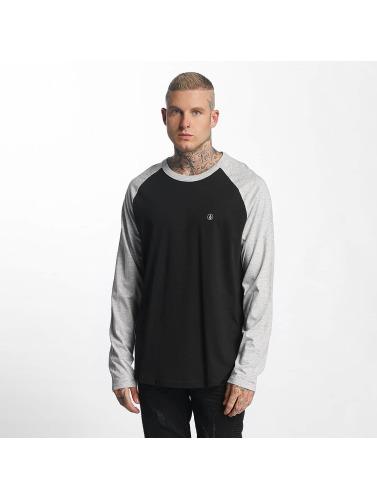 Volcom Hombres Camiseta de manga larga Pen Basic in negro