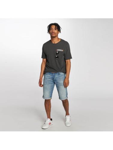 Volcom Hombres Camiseta Rebel Radio in gris