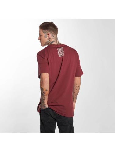 Volcom Hombres Camiseta Edge Basic in rojo