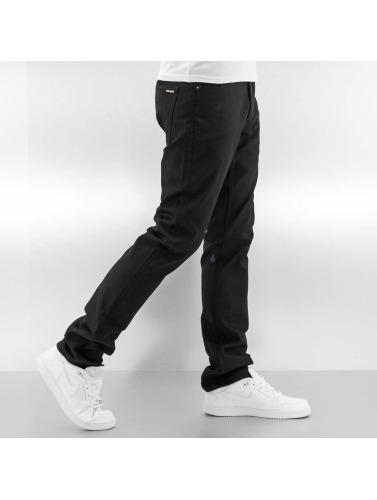Volcom Herren Straight Fit Jeans Vorta Denim in schwarz