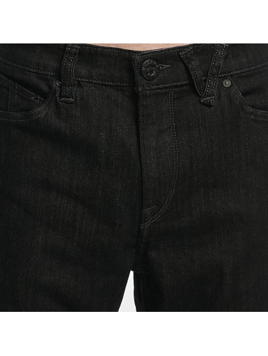Volcom Herren Straight Fit Jeans Kinkade Denim in schwarz